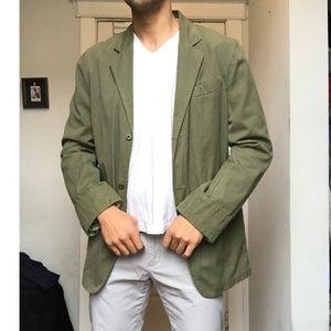 Light Weight Cotton Blazer Long Jacket Top Coat